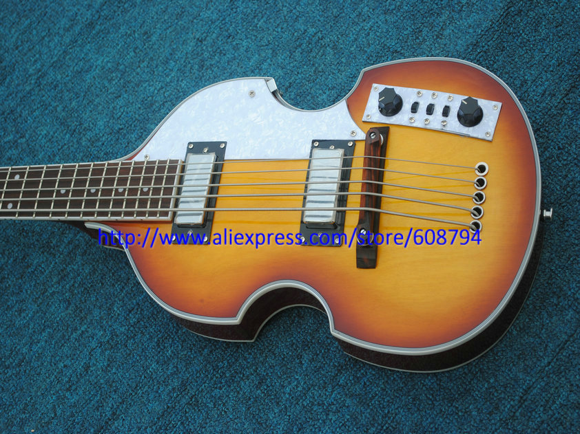 new custom 5 strings bass guitar vintage violin style bass china guitar factory from china free. Black Bedroom Furniture Sets. Home Design Ideas