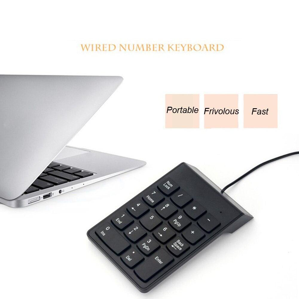 Keypad Numeric Keyboard Mini Computer Laptop Windows Black USB for PC MAC