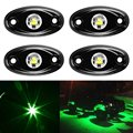 LED Rock Light Kits for Interior Exterior Under Off Road Truck ATV SUV 4x4 Boat 4wd Motorcycle Car - Green 4 pcs
