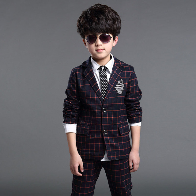61c73efb0 Boys Formal Suits for Weddings 2019 New Brand England Style 5 14T ...