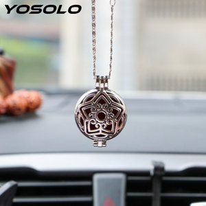 YOSOLO Car Air Freshener For Essential Oil Rear View Hanging Pendant Auto Rearview Mirror Perfume Aroma Diffuser Antique Vintage(China)