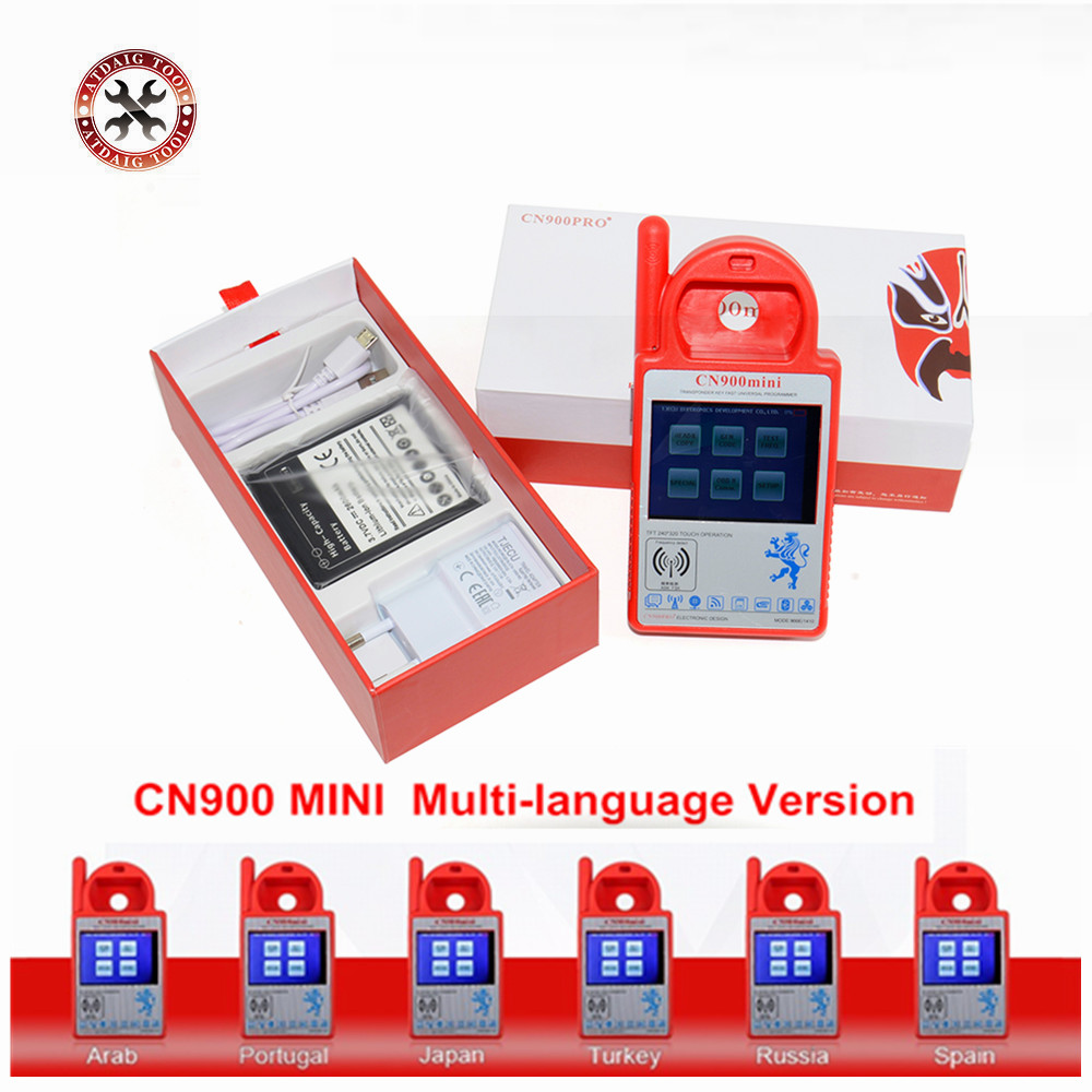 2019 latest model Smart CN900 Mini Transponder Key Programmer Mini CN900 Multi languages programmer for 4C