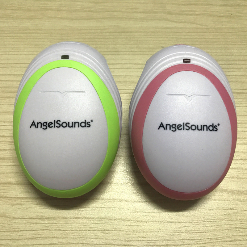 Two units Fetal Doppler Portable Pocket Ultrasound Fetal Monitor Prenatal Monitor Angel Sound Series Factory Directly