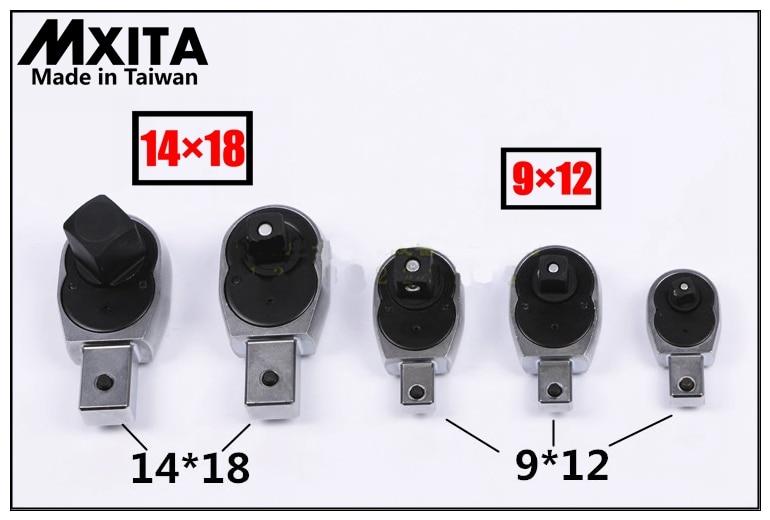 Cabezal de trinquete con llave de torque abierta MXITA 9X12 - Herramientas manuales - foto 2