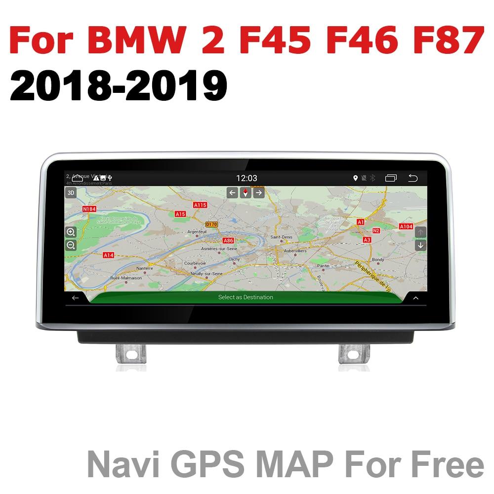 2 Rádio do carro din GPS Android Navegação Para BMW Série 2 F45 F46 F87 2018 ~ 2019 EVO AUX Stereo multimídia touch screen original
