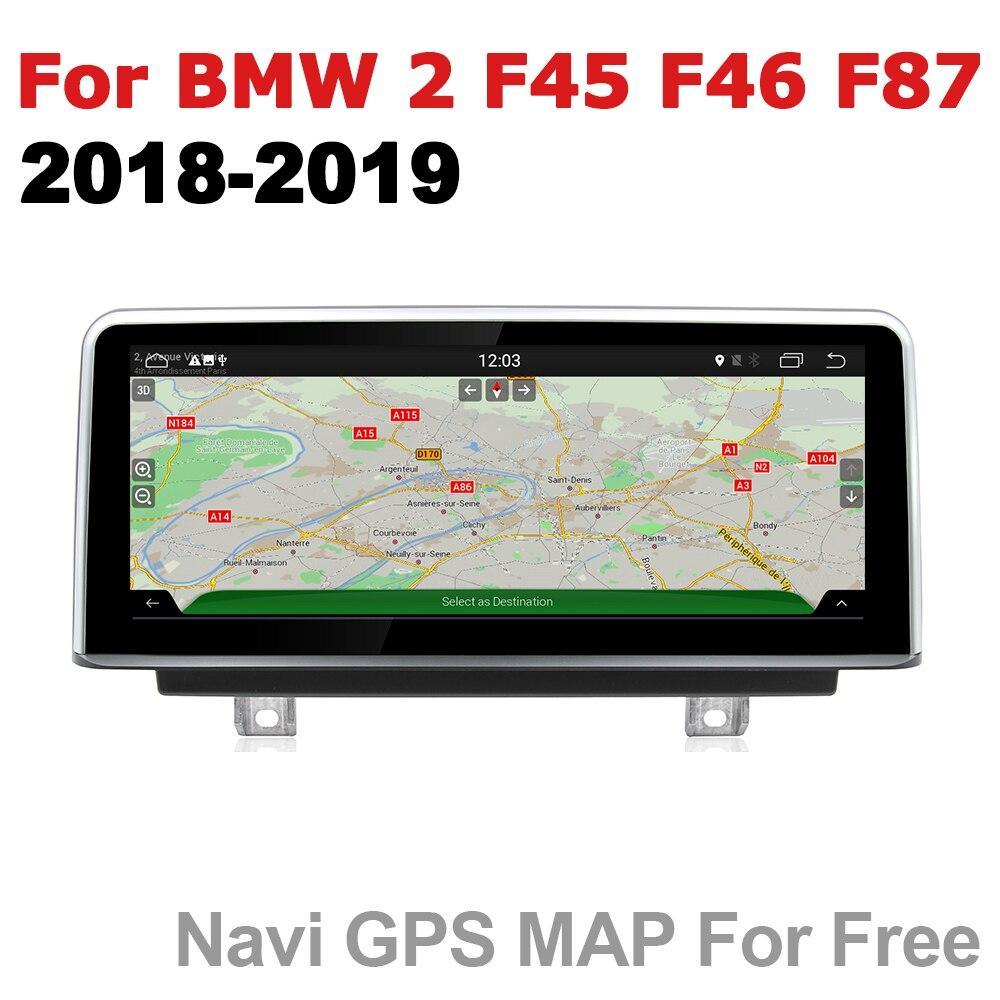 Radio del coche 2 din GPS de navegación Android para BMW Serie 2 F45 F46 F87 2018 ~ 2019 EVO estéreo AUX pantalla táctil multimedia original