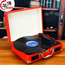 Portable gramophone portable suitcase LP vinyl machine Antique Vintage LP phonograph record player vinyl