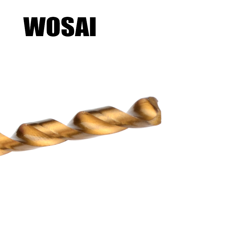 WOSAI 13 pcs / ensemble HSS Acier Rapide Acier Titane Enduit Foret - Foret - Photo 2