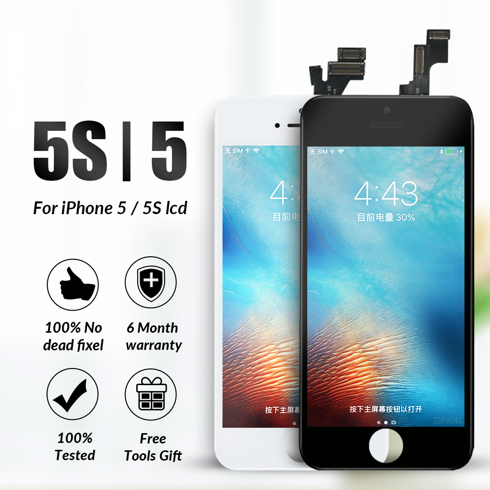 Grado AAA LCD para iPhone 5 5S pantalla LCD pantalla táctil digitalizador de reemplazo de pantalla para iPhone 5S 5 5C SE LCD asamblea de pantalla