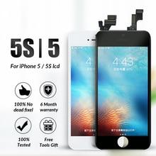 Pantalla LCD de grado AAA para iPhone 5 5S, digitalizador de pantalla táctil, montaje de pantalla LCD