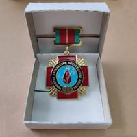 1980 Оригинал спасательный Чернобыльский ядерный завод медаль медная эмаль с белая бумажная коробка коллекция вспомним значок героя