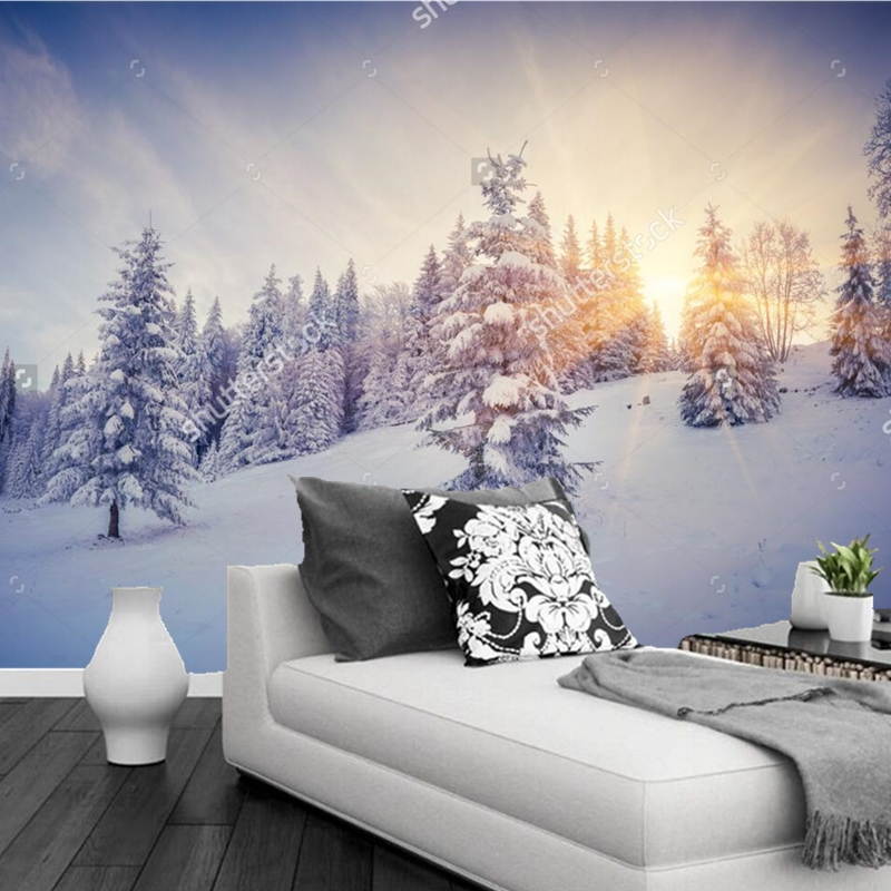 Online buy wholesale 3d winter wallpaper from china 3d for Winter wall murals
