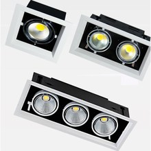 LED Ceiling Downlight 10W 20W 30W COB AC110V 220V Square Recessed Dimmable Down light