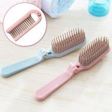 1Pc Plastic Folding Hair Brush Travel Portable Pocket Comb Hair Styling Dressing Tool RP1-5