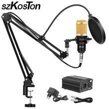 BM 800 Microphone de Studio pour ordinateur karaoké Microphone avec pied de micro condensateur professionnel Kit de Microphone de Studio Mikrofon