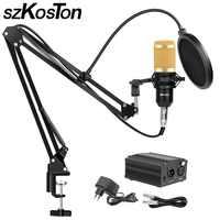 BM 800 micro de Studio pour ordinateur karaoké micro avec pied de micro professionnel condensateur micro Kit Studio Mikrofon