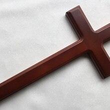 Христианский крест из цельного дерева 32*16*4*2,5 см дома настенные декорации распятие Латинский крест христианской вере молитва НАД ИИСУСОМ