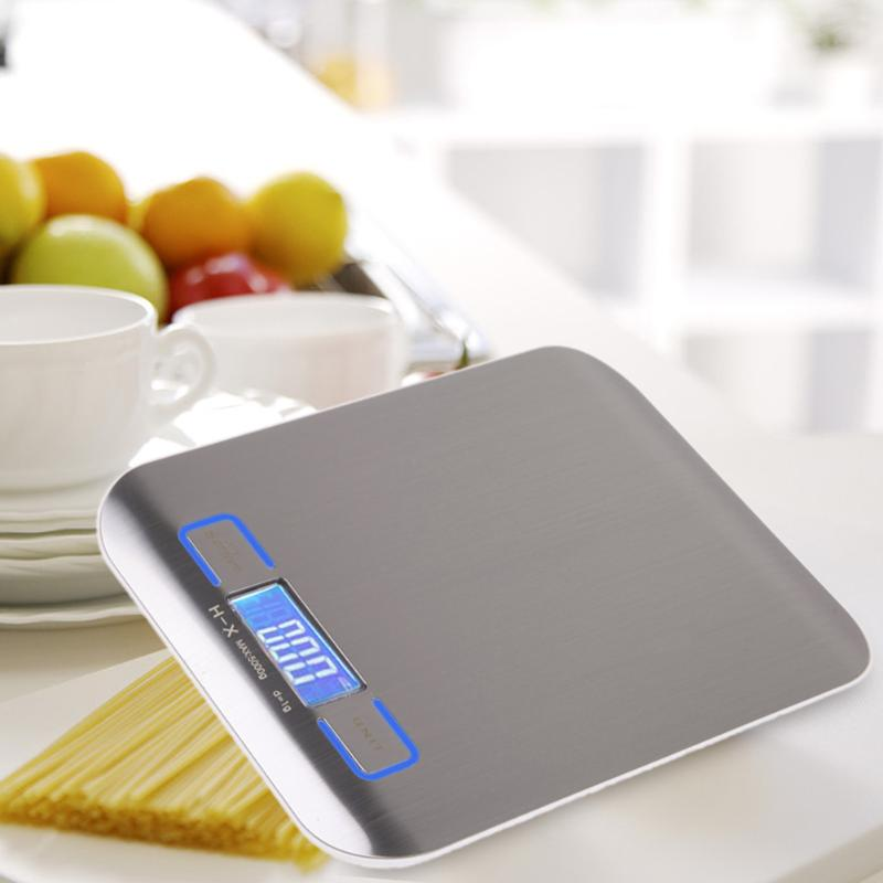 5000g Digital Scale Kitchen Cooking Measure Tools Stainless Steel Electronic Weight LCD Electronic Bench Weight Scale