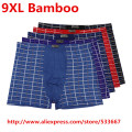 Ultra-Large 1PCS/Lot Breathable Bamboo Mens Underwear 9XL(6XL) Boxer Shorts/Quality Men's Panties Plus Size 9XL