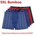 Ultra-grande 1 unids/lote de bambú respirable mens underwear 9xl (6xl) calzoncillos/bragas de los hombres de calidad plus tamaño 9xl