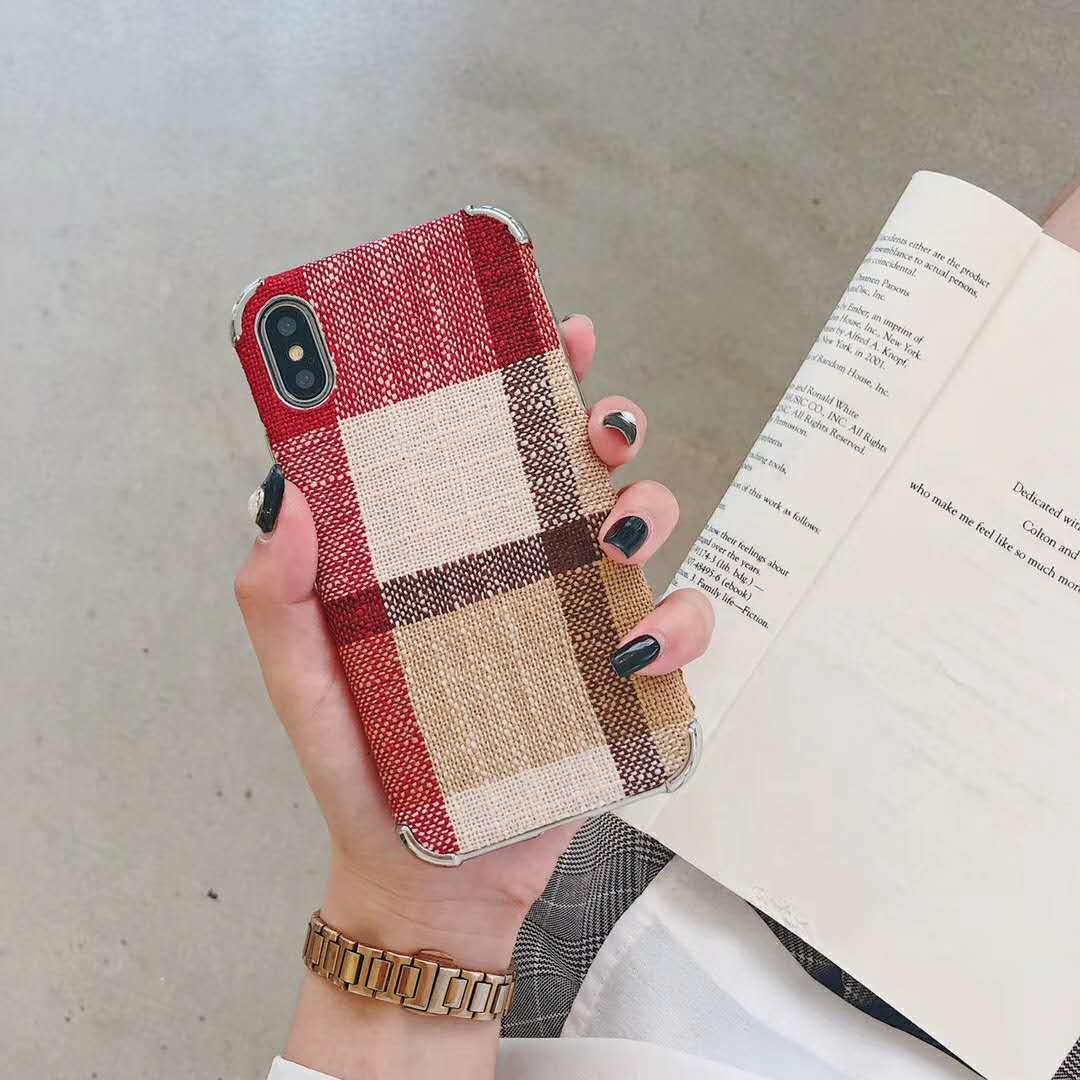 SZYHOME מקרי טלפון עבור iPhone X XR XS XSMAX 6 6 s 7 8 בתוספת בציר יוקרה אופנה כיכר סריג מעטה טלפון נייד כיסוי
