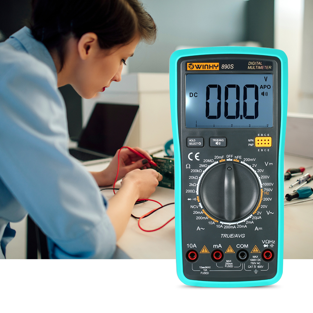 все цены на Digital Multimeter 1000V LCD Voice NCV True RMS DC/AC Voltage Current Meter Capacitance Resistance Diode electric instrument онлайн