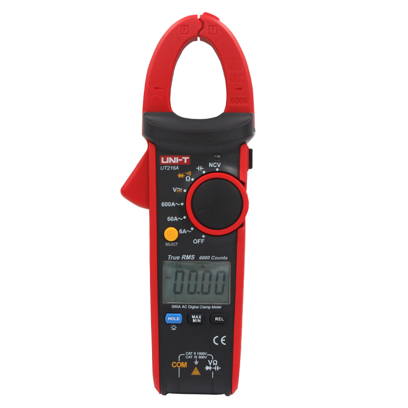 UNI T UT216A Digital Clamp Meter DC Current NCV Tester Auto Range 600A Multimeters Diagnostic tools