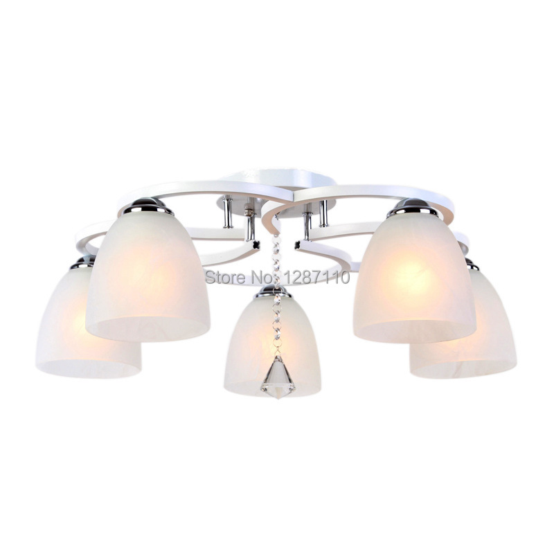 Modern Crystal ceiling lamp light warm creative E27 crystal ceiling light for living roo ...