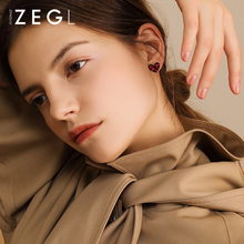 ZEGL Love Earrings Womens Red Stud Fall Winter