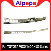 For TOYOTA VOXY NOAH 80 Series R80 Rear Trunk Deck Bumper Protector Panel Boot Cover Stainless Steel Trim Door Sill Car styling
