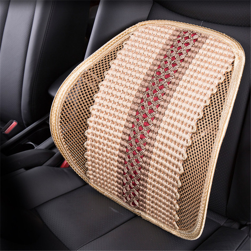 Car Waist Pillow Cushion Summer Office Seat Thickened Breathable Bamboo Detector Back Lumbar Support