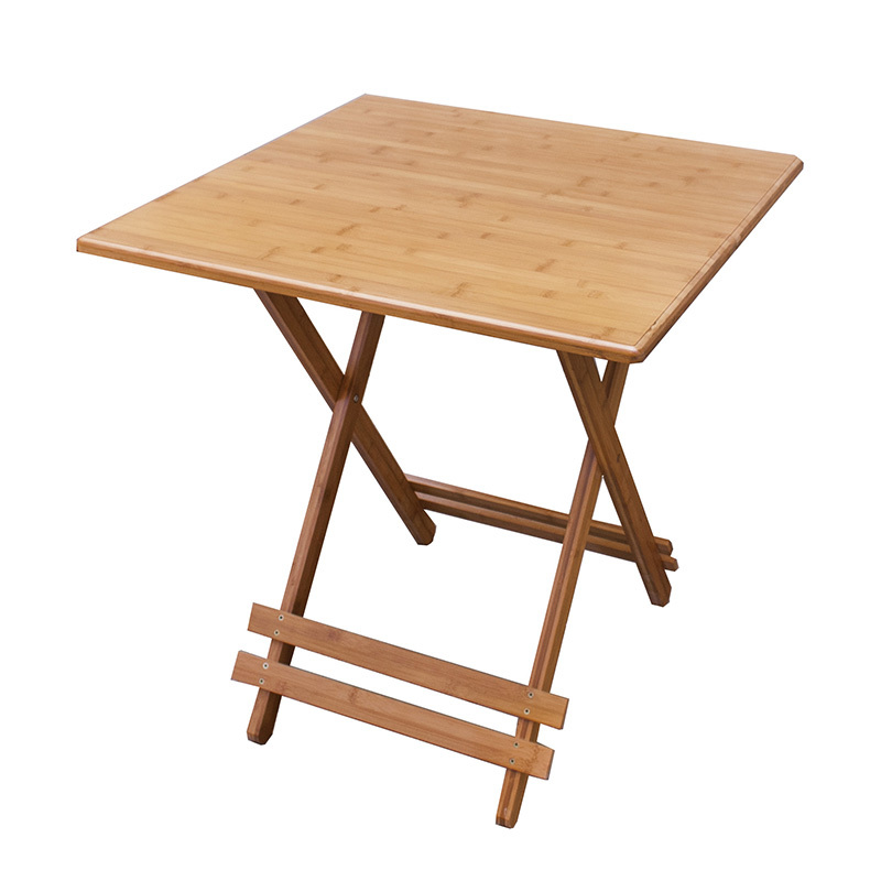 Ec furniture bamboo folding table square table small for Small apartment dining table