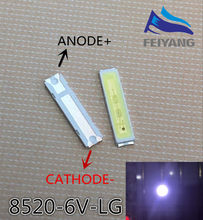 200pcs PARA LG SMD 8520 LED 50 pçs/lote 6 Innotek LEVOU Retroiluminação LED 8520 V branco Fresco TV Aplicação