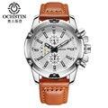 2017 Moda Pulseira de Couro relógios do relógio Dos Homens Casual Homens de Negócios relógios de pulso Do Esporte Militar relógio de quartzo relógio Masculino Relogio masculino