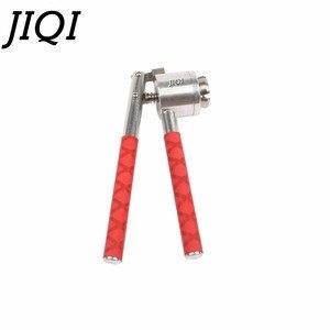 Image 4 - JIQI נירוסטה יד כף מלחץ בקבוקון אוטם 13mm 15mm 20mm בושם בקבוק איטום מכונה ידנית Capper להעיף את מכסת