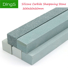 1pc 80-3000 Grit Square Jade Knife Sharpener Sharpening Stone Green Silicone Carbide Oil Stone Polish Grinding Tools 200x20mm 1pc 3000