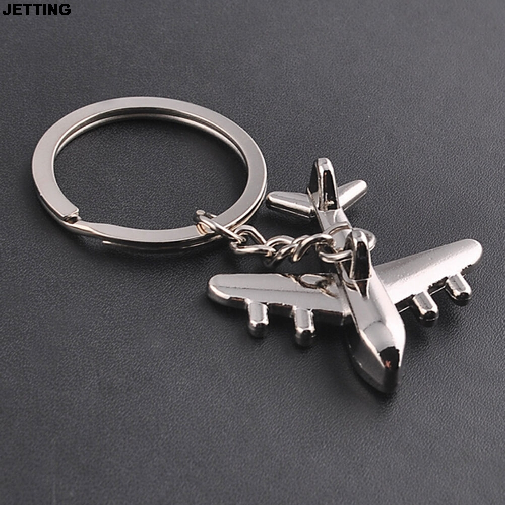 1Pcs JETTING US airlines model metal keychain Keyfob Keyring Gift For Men Women kids Wholesale image