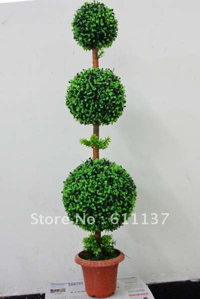free shipping 2x artificial indoor outdoor plastic boxwood silk spiral topiary tree plant for christmas decoration - Topiary Christmas Decorations