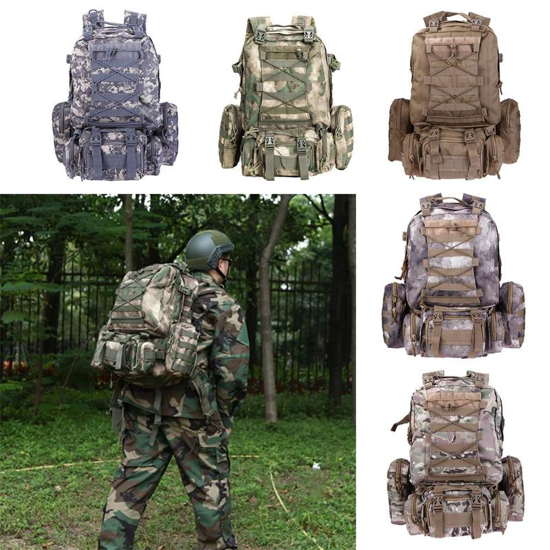 1pcs Military Army Tactical Backpack Molle Tactical Backpack Rucksack Hiking Camping Water Resistant Bags 600D Camouflage Bag 70l internal metal frame molle backpack rucksack water resistant bags 600d camouflage men long distance travel backpack t0071