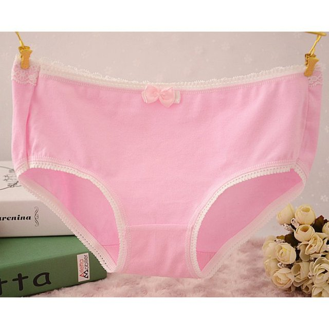 6432031200f4 Candy Color Sexy Female Underwear Women's Cotton Panties Lady Breathable Underpants  Girls Knickers Panty Briefs