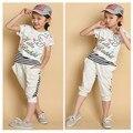 Novatx девушки одежда наборы для летних девочек рубашки и шорты мода детская одежда набор детской одежды наборы дети одежда для девочек