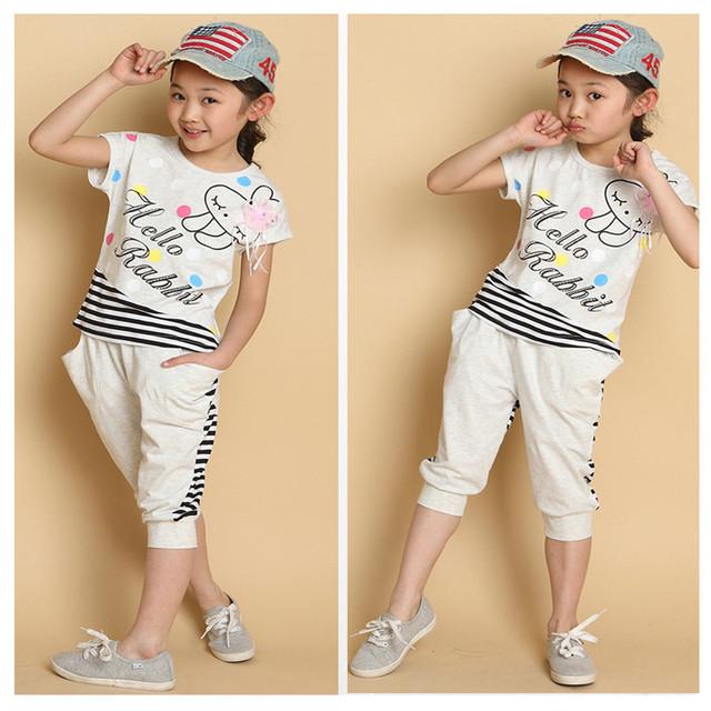 Novatx meninas conjuntos de roupas para o verão meninas camisas e shorts de moda conjunto de roupas de bebê crianças conjuntos de roupas roupa dos miúdos meninas