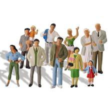 20шт Все стоячие O масштаб 1:43 Окрашенные фигуры пассажиры нежные люди миниатюрный поезд макет P4306