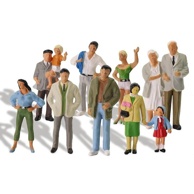 20pcs All Standing O Scale 1:43 Painted Figures Passengers Delicate People Miniature Train Layout P4306 1