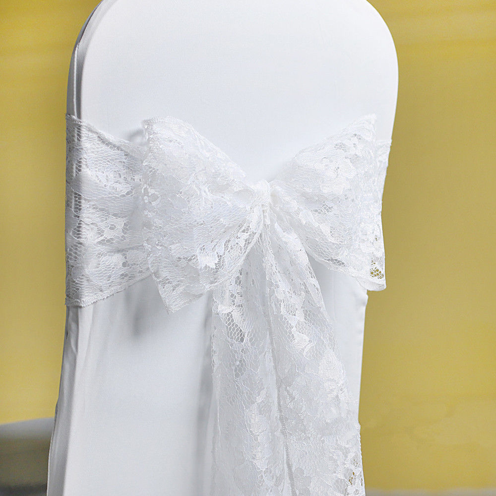 Chair Covers And Sashes For Sale Babies R Us High ộ Hot With Factory Price 100pcs White Lace Sash Wedding Cover Free Shipping Marious