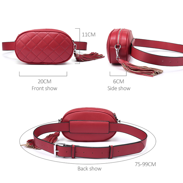 LOVEVOOK fanny pack women waist packs belt bag female shoulder crossbody bag school bum bag waist mini purse for women 2019 PU 3