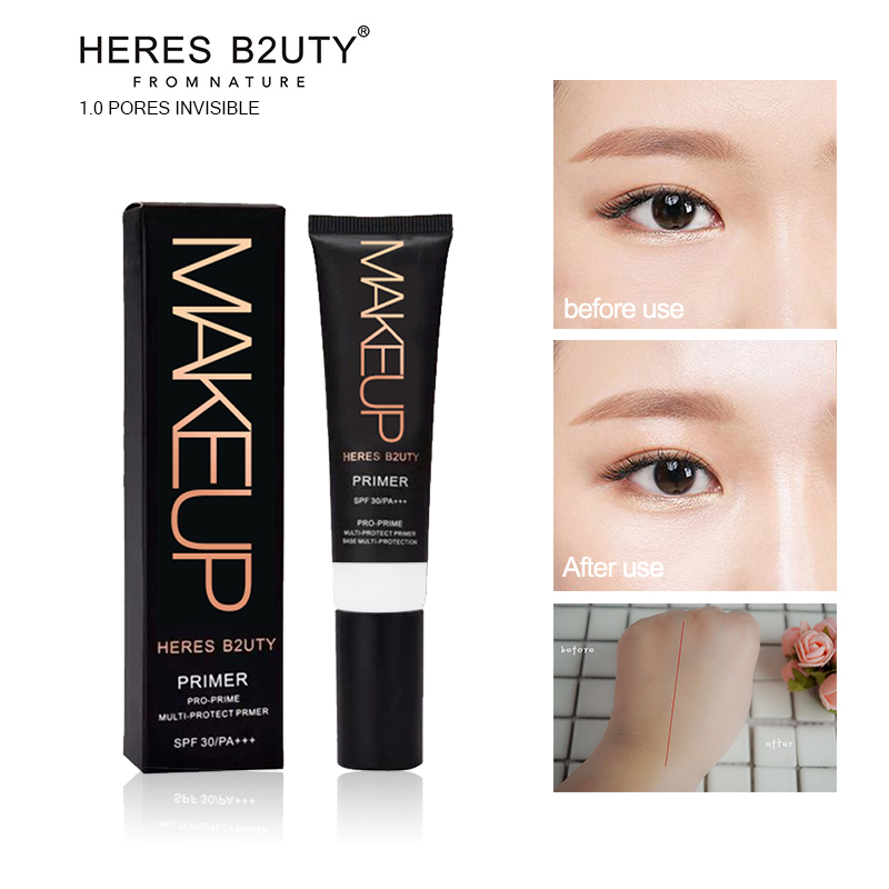 30ml HERES B2UTY Profesional Base Primer machiaj Porii de control al uleiului Concealing Whitening Brighten UV Multi-Protection Smooth Face