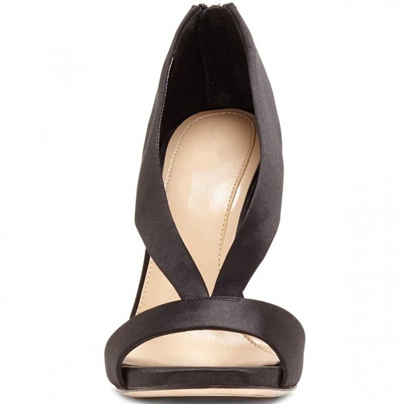 Sexy Sandales Rome Début Du Femmes Pompes De Et Talons Cr46 Luxe Nouvelle Pour Enmayer Creusé Black 2018 Au white Printemps Chaussures Zipper Tendance Hauts 7YwfPfq