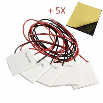 5 sztuk TEC1-12706 12V 60W radiator schładzacz termoelektryczny moduł chłodzenia peltiera płyta z izolacją bawełny podkładka tanie i dobre opinie KUONGSHUN Regulator napięcia Nowy Approx 40mm x 40mm x 3 8mm -30°C to 83°C Qcmax 60