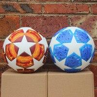 18 19 Champions League Soccer Ball Red Madrid 19 Final Balls PU high grade seamless paste skin Blue Match football ball Size 5
